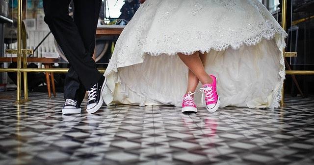 נעלי פלטפורמה לכלה